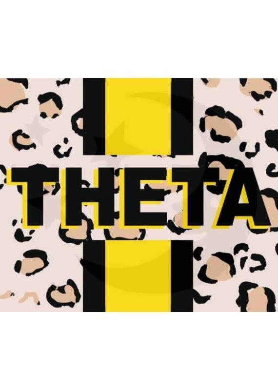 Over the Moon Kappa Alpha Theta Cheetah Flag 3'X5'