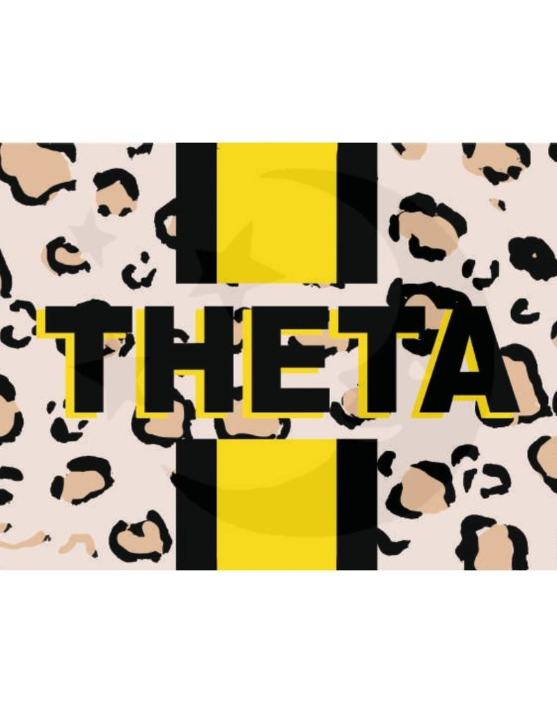 Over the Moon Kappa Alpha Theta Cheetah Flag 3'X5'