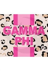 Over the Moon Gamma Phi Beta Cheetah Flag 3'X5'