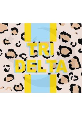 Over the Moon Delta Delta Delta Cheetah Flag 3'X5'
