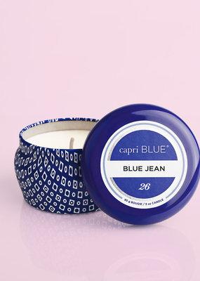 Capri Blue 3oz. Blue Mini Tin Candle Blue Jean