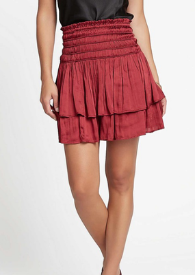 Meraki Smocked Syrah Skirt