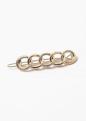 Buffalo Trading Co. Gold Circle Link Hair Clip