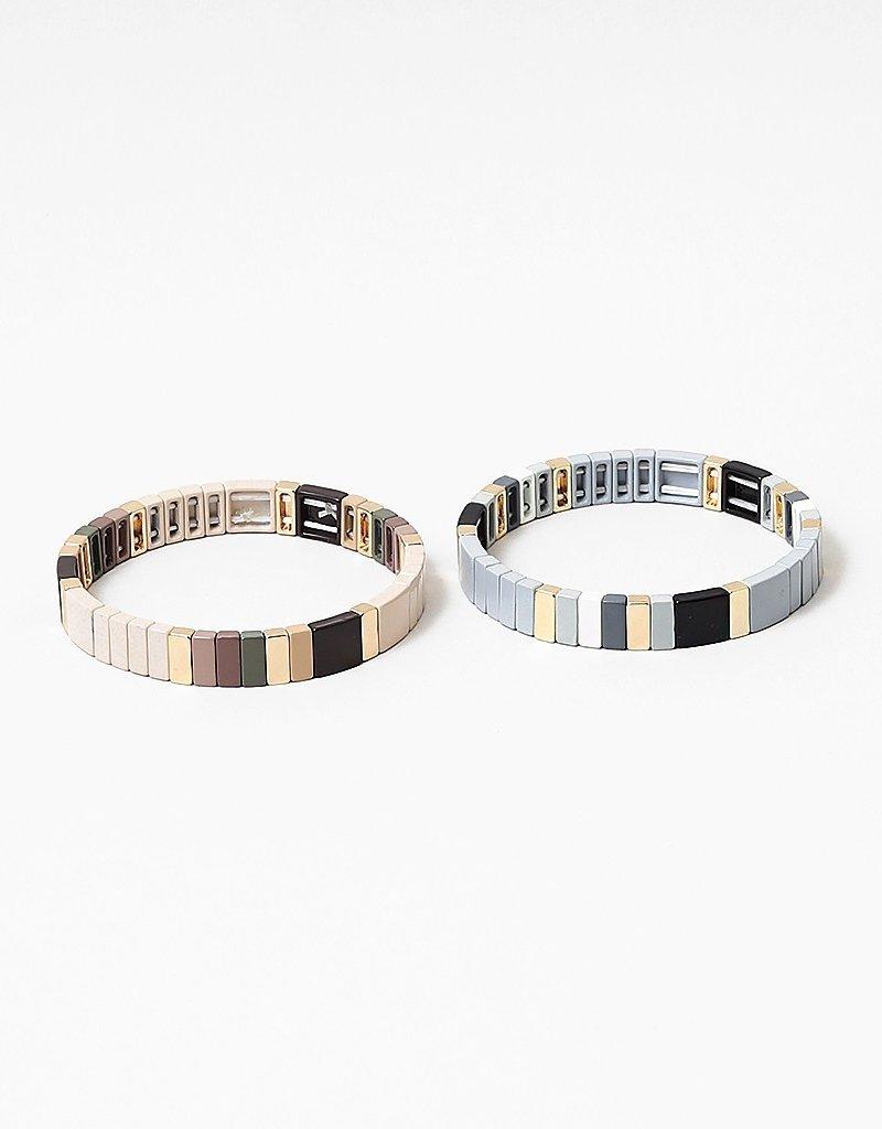 Colorblock Bracelet Grey/Gold