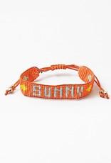 Sunny Beaded Bracelet Orange