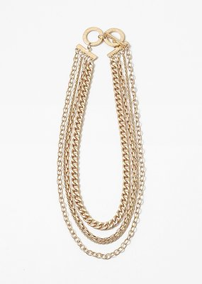 Buffalo Trading Co. Cuban Multi Chain Necklace Gold