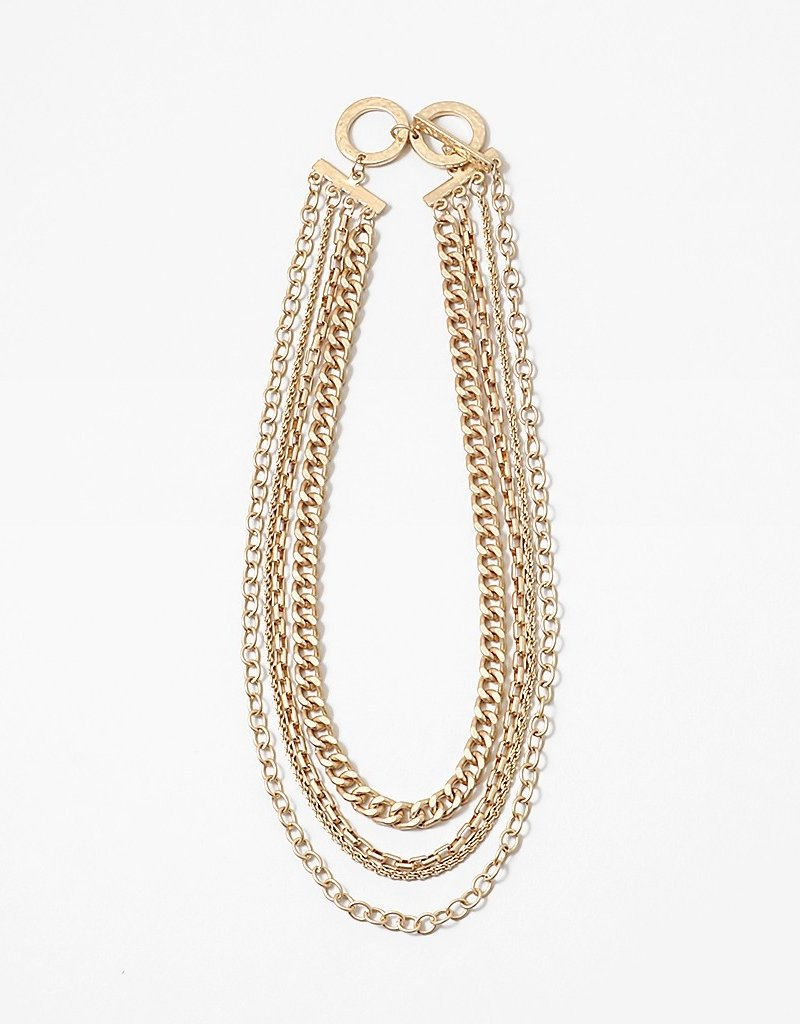 Buffalo Trading Co. Cuban Multi Chain Necklace Gold