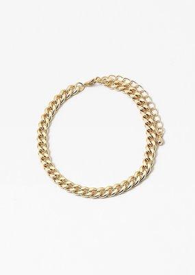 Cuban Link Chain Bangle Gold
