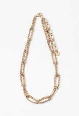 Chains Linked Necklace Gold