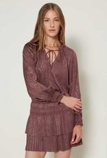 Meraki Shag Pleat Mini Dress