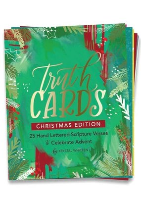 Krystal Whitten Studio Truth Cards Christmas Edition Pine Block Stand