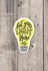 Krystal Whitten Studio Let Your Light Shine Sticker