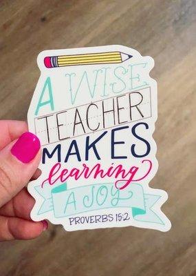 Krystal Whitten Studio A Wise Teacher Sticker