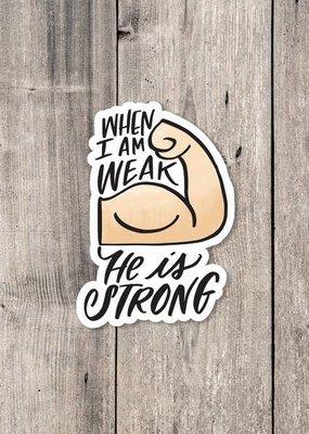 Krystal Whitten Studio He Is Strong Sticker