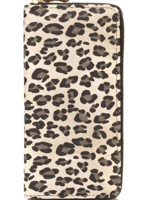 Buffalo Trading Co. Leopard Print Wallet Beige