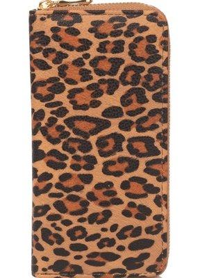 Buffalo Trading Co. Leopard Print Wallet Brown