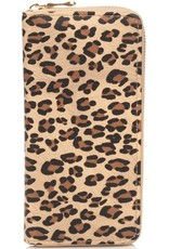 Buffalo Trading Co. Leopard Print Wallet Taupe