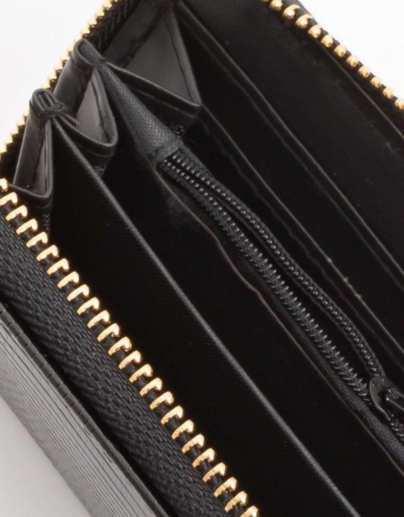 Buffalo Trading Co. Snakeskin Wallet Black