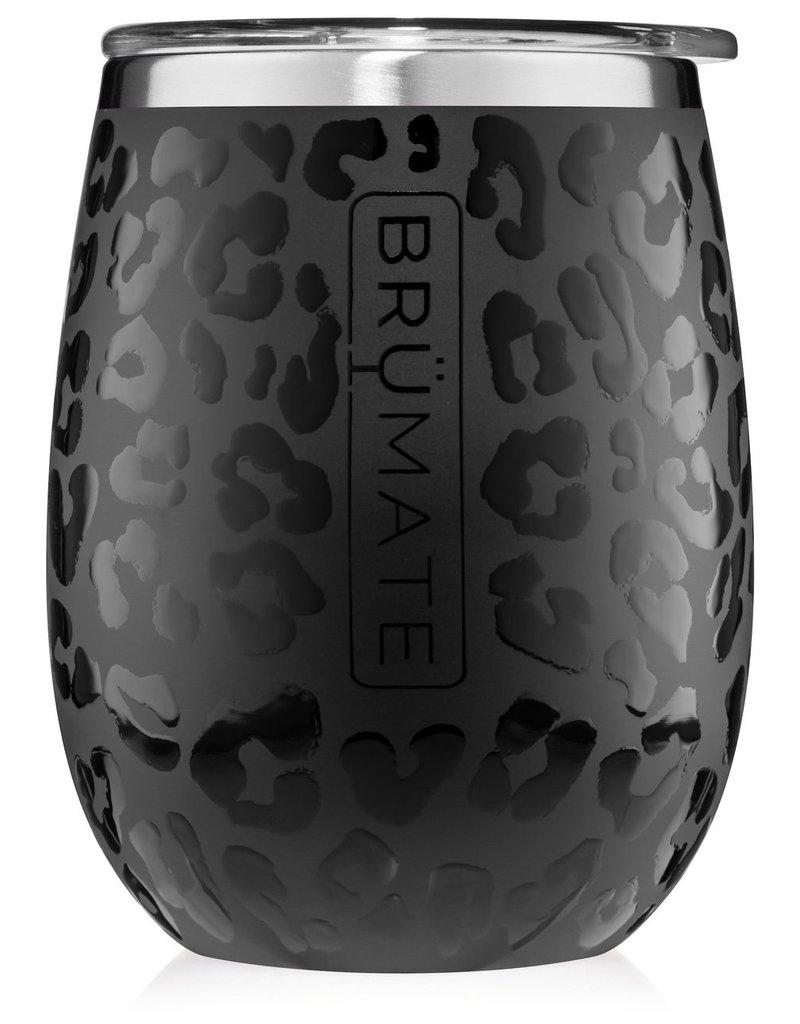 BrüMate BRÜMATE Uncork'd XL 14oz Wine Glass Onyx Leopard