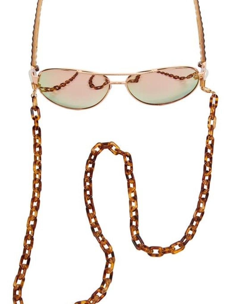 Buffalo Trading Co. Glasses Mini Chain Tortoise