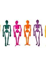 """One Hundred 80 Degrees Flocked Skeleton 16"""" Light Orange"""