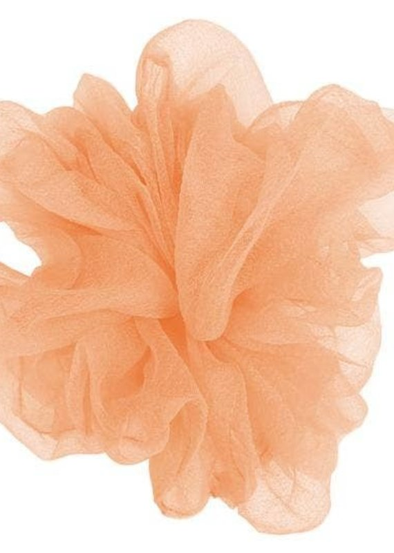 Pink Pewter Luxe Oversized Sheer Scrunchie Flamingo