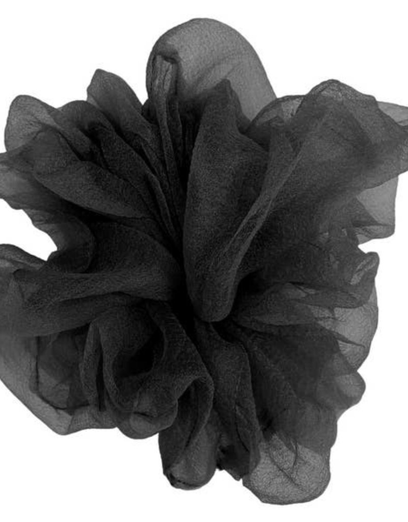 Pink Pewter Luxe Oversized Sheer Scrunchie Black