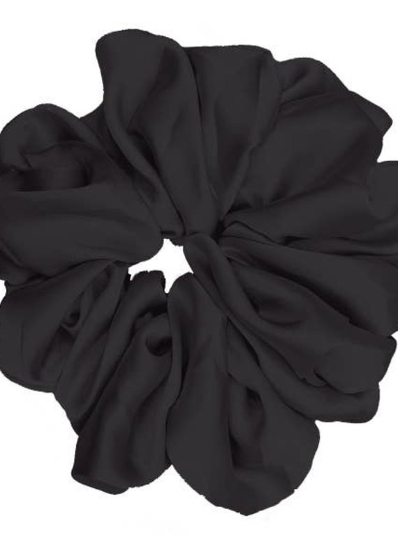Pink Pewter Luxe Oversized Plush Scrunchie Midnight