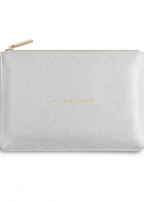 Katie Loxton Perfect Pouch Live Love Silver