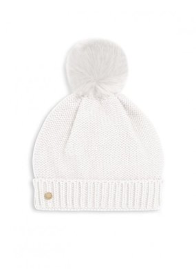 Katie Loxton Fur Bobble Hat White