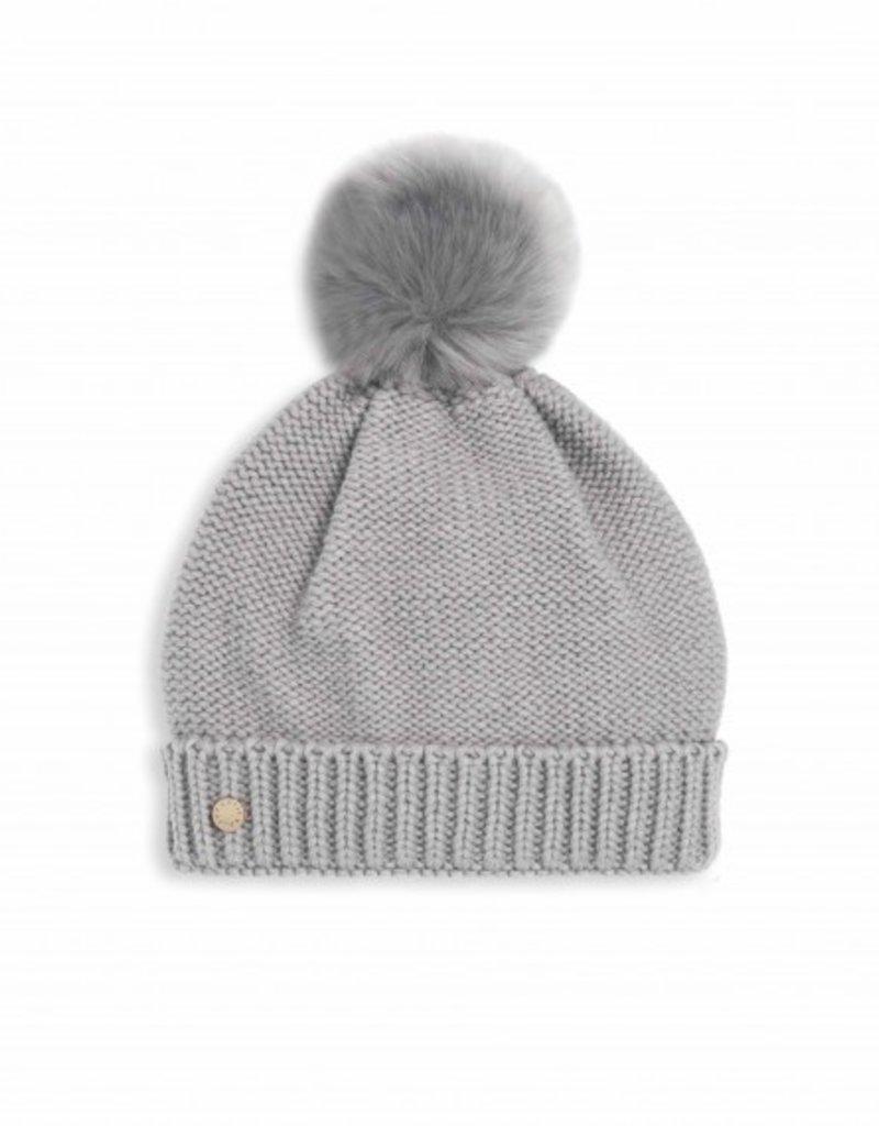 Katie Loxton Fur Bobble Hat Grey