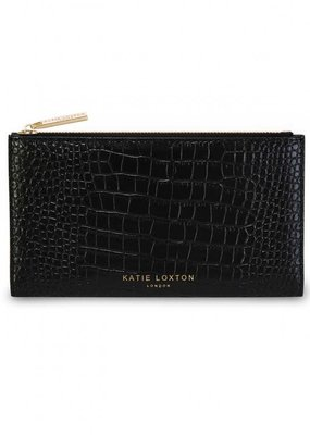 Katie Loxton Celine Faux Croc Fold Out Wallet Black