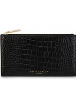 Katie Loxton Celine Faux Croc Fold Out Wallet Black