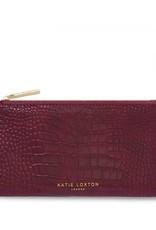 Katie Loxton Celine Faux Croc Fold Out Wallet Burgundy