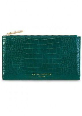 Katie Loxton Celine Faux Croc Fold Out Wallet Forest Green