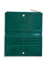 Katie Loxton Celine Faux Croc Fold Out Wallet Forest Green