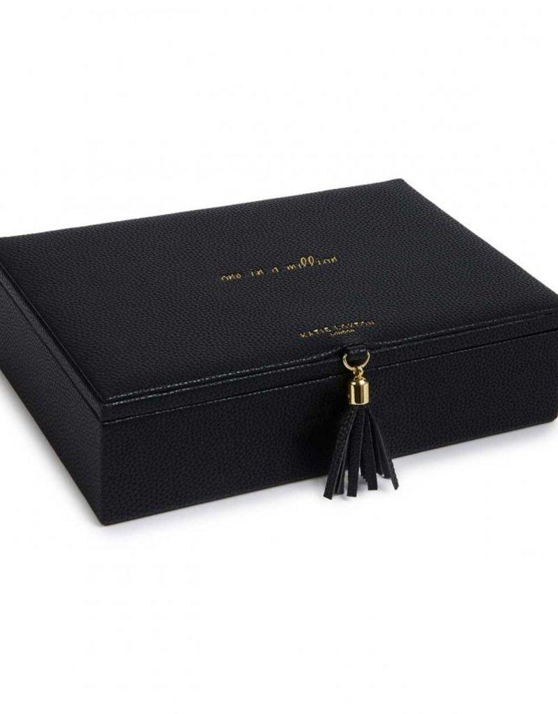 Katie Loxton Tassel Jewelry Box One In A Million Black