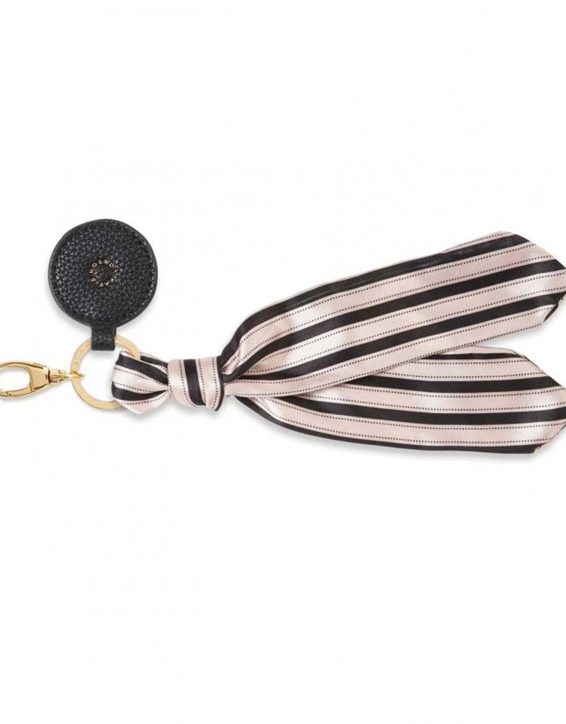 Katie Loxton Carrie Scarf Keyring Purse Charm Black Gold