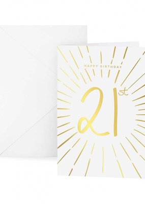 Katie Loxton Greetings Card Happy 21st Birthday