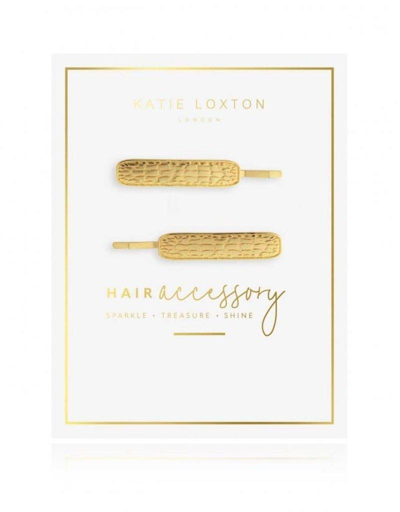 Katie Loxton Croc Embossed Hair Slides