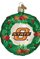 Old World Christmas OK State Wreath Basketball