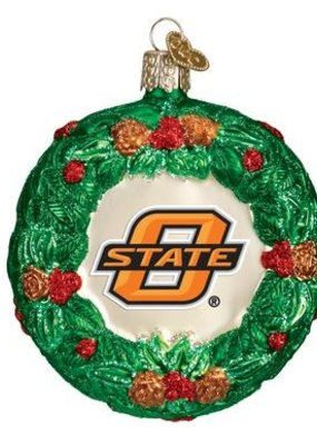 Old World Christmas OK State Wreath Basketball