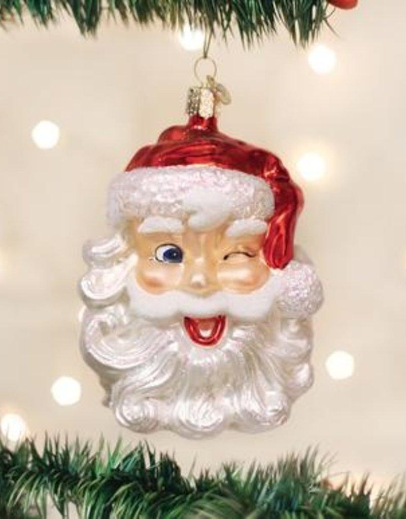 Old World Christmas Winking Santa Ornament