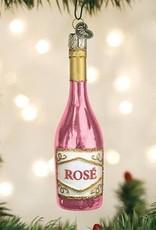 Old World Christmas Rose Wine Ornamnet