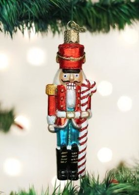Old World Christmas Peppermint Nutcracker Ornament