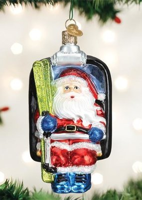 Old World Christmas Santa Ski Lift Ornament
