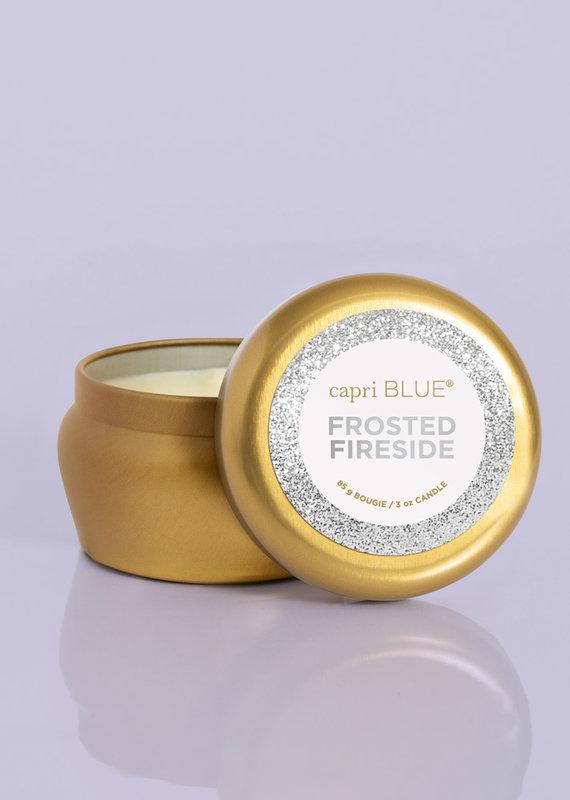 Capri Blue 3oz Glam Mini Tin Frosted Fireside