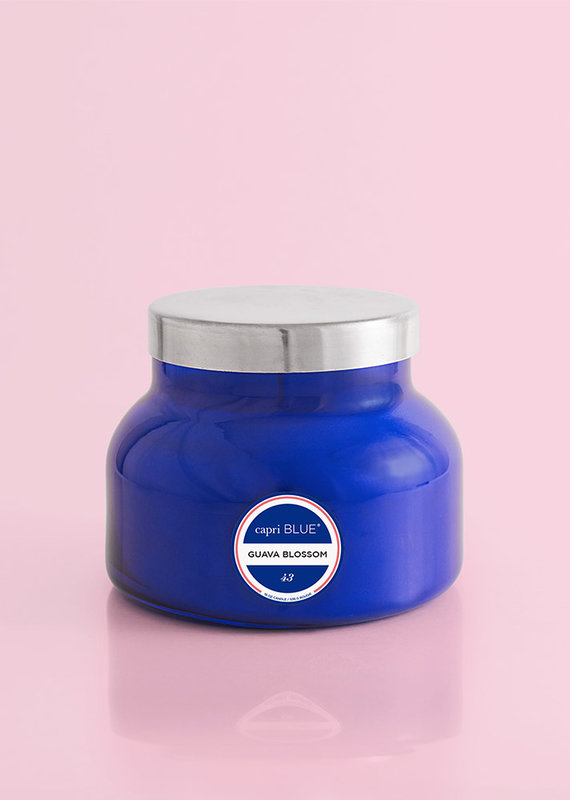 Capri Blue Guava Blossom Blue Signature Jar, 19 oz.