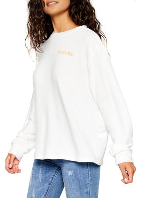 Sadie & Sage Peachy Puff Graphic Long Sleeve