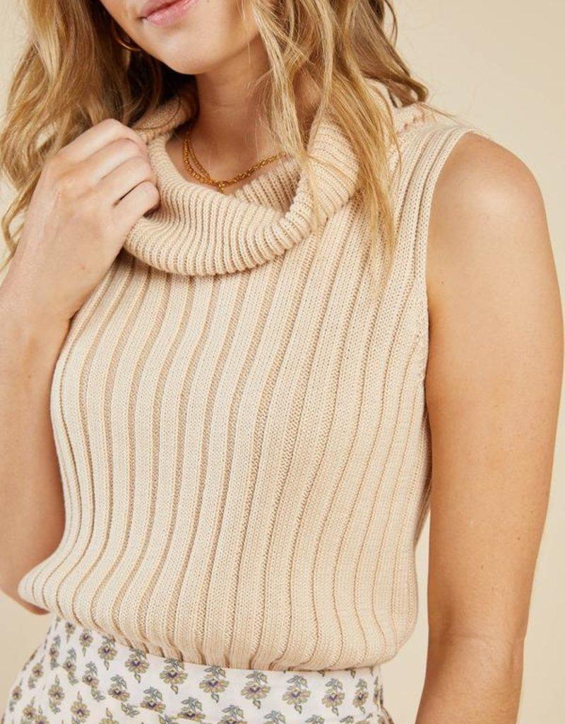 Sadie & Sage Foxtail Sleeveless Sweater